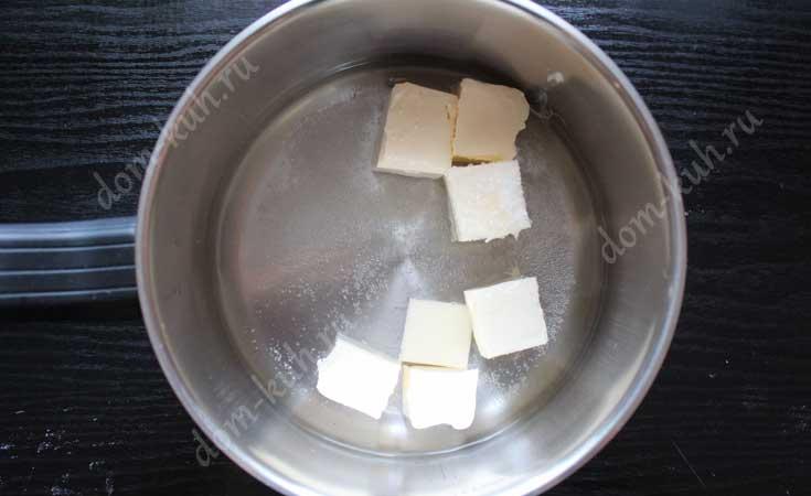 Растопить масло в воде