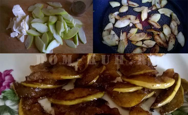 обжарить яблоки на масле