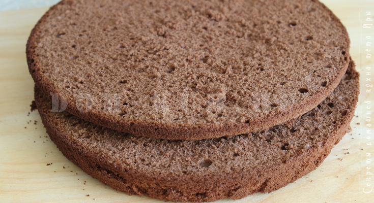 классический шоколадный бисквит для торта