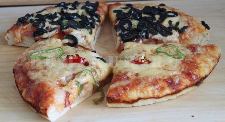 нажористая пицца в духовке простой пошаговый рецепт