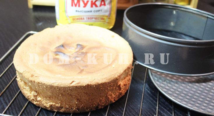 бисквит для торта: пошаговый классический рецепт