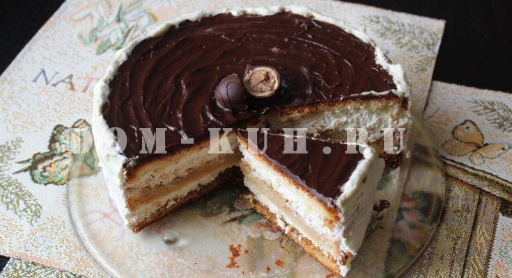 легкий в приготовлении торт со взбитыми сливками
