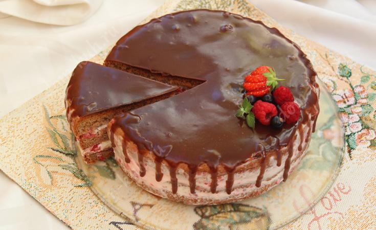 Торт Малинник готов