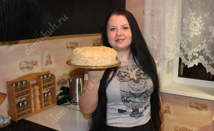 Рецепт торта Наполеон домашнего со сгущенкой и масляным кремом
