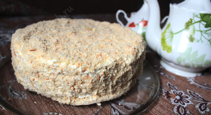 Рецепт торта Наполеон с масляным кремом