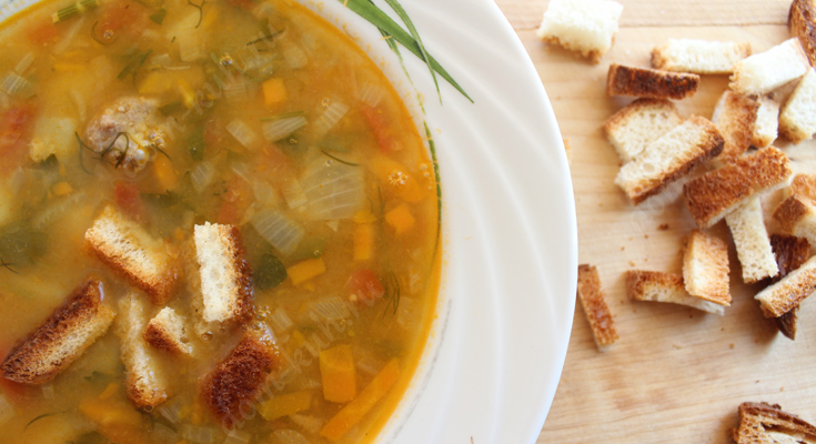 Гороховый суп по старинному рецепту с пояснениями