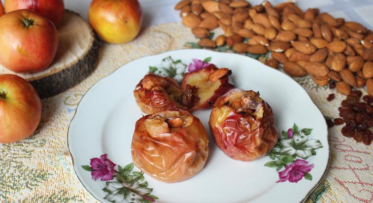 Видео-рецепт запеченных яблок